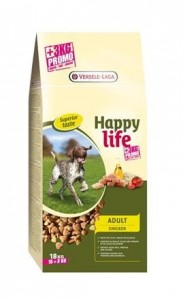 Happy Life - Adult Chicken 15 kg + 3 kg GRATIS