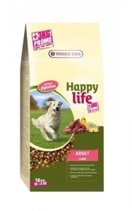 Happy Life - Adult Lamb 15 kg + 3 kg GRATIS